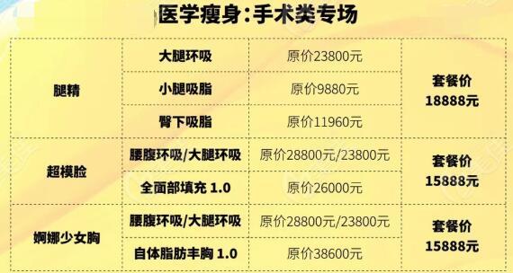 深圳阳光整形美容医院4月优惠瘦身季